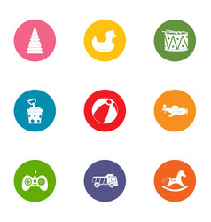 Improving the game icons set flat style vector
