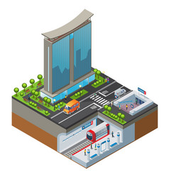 Isometric colorful cityscape concept vector