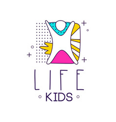 Kids life logo design element for kids club vector