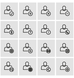 line people icon set vector image