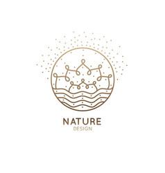 Logo nature mandala vector