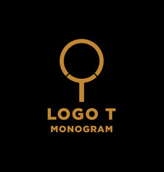 Luxury initial t logo design icon element isolated vector