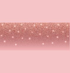 luxury pink glitter banner with text place vector image