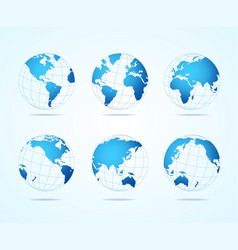 map globe set vector image