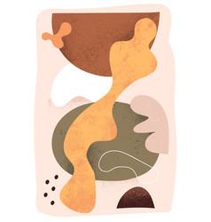 modern scandinavian art for wall poster vector image