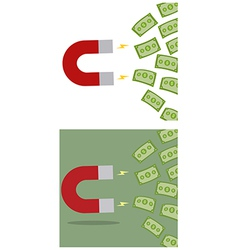 Money magnet cartoon vector