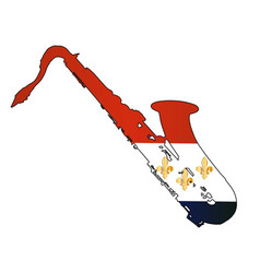 New orleans jaz flag vector