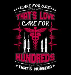 nurse t shirts design typographic quotes design vector image