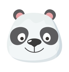 Panda Face in Flat Design vector
