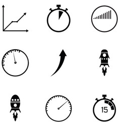 performance icon set vector image