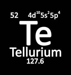periodic table element tellurium icon vector image