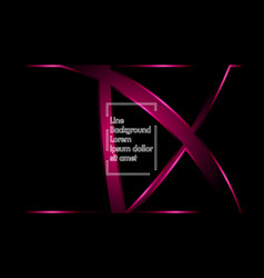 pink ribbon wave on a black background layout vector image