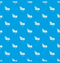 raspberry pattern seamless blue vector image