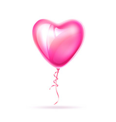 realistic heart shape pink balloon love vector image