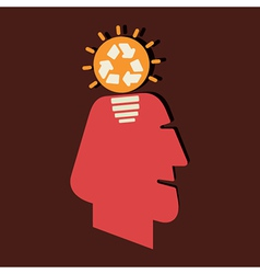 renewable idea in human head vector image