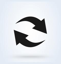 renewal simple modern icon design vector image