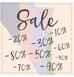 Sale stylish banner pastel brush stroke vector image