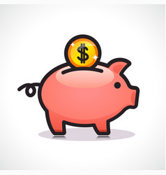 savings symbol icon design vector image