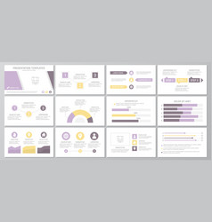 Set purple elements for multipurpose presentation vector