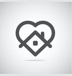 Stay home logo coronavirus protection campaign vector