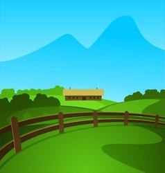 Summer in valley vector