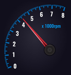 Tachometer up to 8 x 1000 rpm revolution-counter vector
