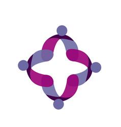 Teamwork people together logo symbol vector