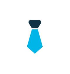 tie icon colored symbol premium quality isolated vector image