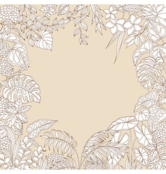 Tropic outline frame vector