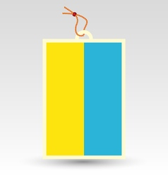 Ukrainian flag made in tag vector