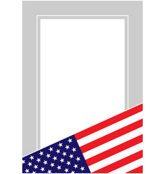 Usa flag frame border vector