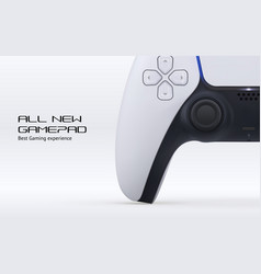 videogame play remote controller banner concept vector image