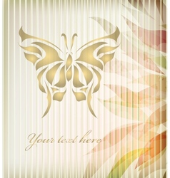 Vintage floral butterfly background vector image