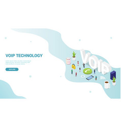 Voip voice over internet protocol concept vector