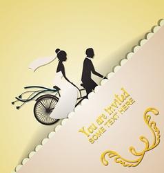 With wedding and wedding bike vector