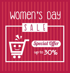 Womens day sale special offer up to 30 template vector
