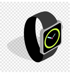 wristwatch isometric icon vector image
