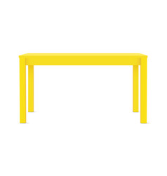 Yellow rectangular table vector