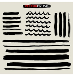 Zen brush set vector