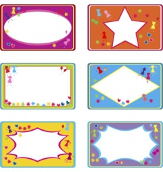cute labels vector image vector image