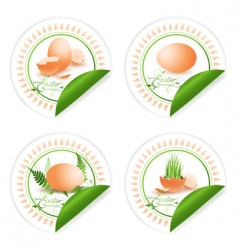 Easter stickers vector image vector image