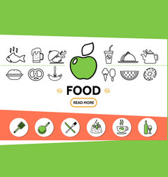 food line icons template vector image