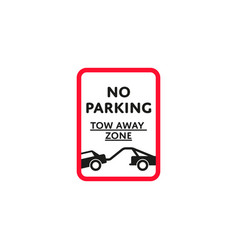 no parking zone roadsign isolated vector image vector image