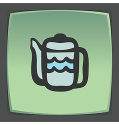 outline teapot icon Modern infographic logo and vector image vector image