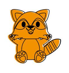 raccoon cute animal cartoon icon image vector image