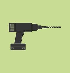 Electric drill icon vector image