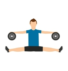 man lifting weights isolated icon design vector image