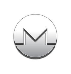 monero coin trendy 3d style icon vector image vector image