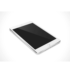 Realistic tablet pc computer with black screen vector image vector image