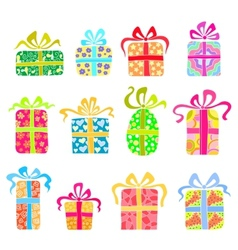 Set of holiday presents vector image